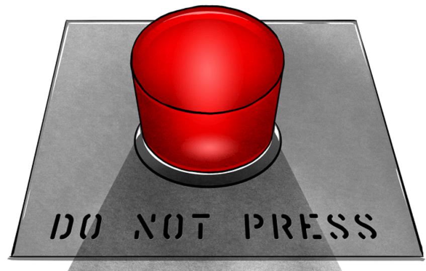 【Python】TkinterのButtonウィジェットで絶対に押してしまうボタンを配置する